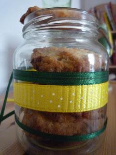 Amerikanische Feigen-Nuss-Cookies im Glas