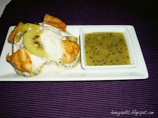 Blätterteig-Pudding-Törtchen mit Kiwi