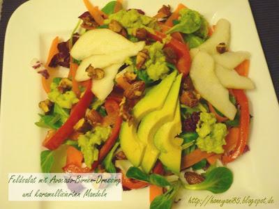 Erfahrungsbericht für die Vegan for fit Challenge von Attila Hildmann Feldsalat mit Avocado-Birnen Dressing