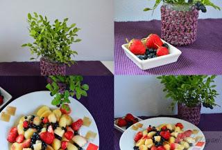 Rezept für mein liebstes Sommergericht - gebratene Gnocchis mit Beeren und Pfirsichen