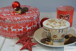 Rezept für die Weihnachtsbäckerei Schoko-Cappuccino-Sterne mit Kakaobohne