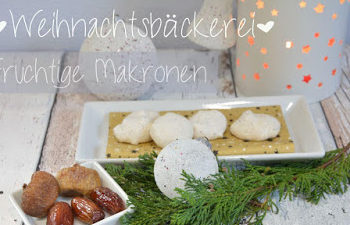 Rezept in der Weihnachtsbäckerei - fruchtige Makronen