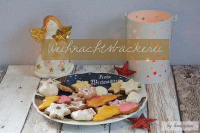 Weihnachtsteller mit Plätzchen Weihnachtsengel, Teelicht und roten Sternen