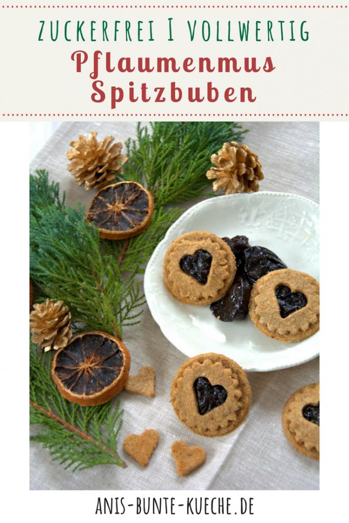 zuckerfreie Spitzbuben mit Pflaumenmus zu Weihnachten