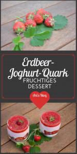 Genieße ein lecker leichtes Erdbeer Dessert in der Sonne. In diesem Erdbeer-Schicht-Dessert vereinen sich eine lockere Stracciatella Schicht, eine Erdbeer-Joghurt-Quark Schicht und fruchtiges Erdbeerpüree zu einem leckeren Sommersnack.