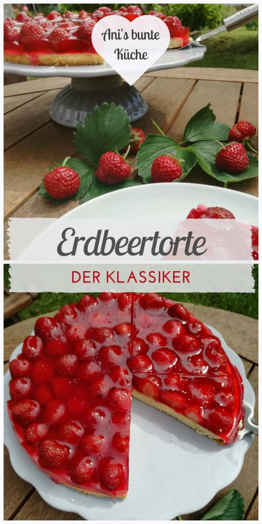 Erdbeertorte und frische Erdbeeren beim Kaffeekränzchen im Garten