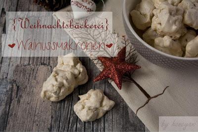 Wallnussmakronen Weihnachtsbäckerei