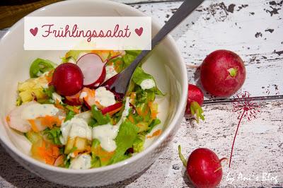 Der Frühling ist da - höchste Zeit für diesen leckeren Frühlingssalat mit wenigen Zutaten ist er im Handumdrehen zubereitet. Schnappt euch ein paar frische Radieschen und eine Möhre und schon habt ihr einen knackigen Salat!