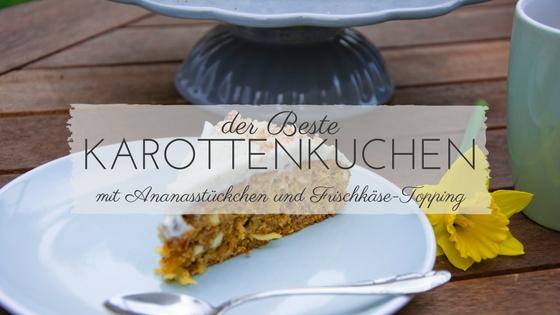 Rezept für Karottenkuchen mit Ananas und Frischkäse-Frosting
