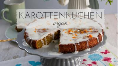 veganer Karottenkuchen mit Apfel und Kokosmilch Frosting