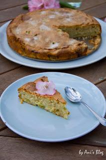 französischer Rhabarberkuchen