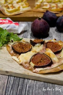 Dieses Herbst Rezept versüßt dir den Herbst: fruchtige Flammkuchen Varianten mit Feige, Ziegenweichkäserollen. So liebe ich den Herbst!