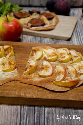 Dieses Herbst Rezept versüßt dir den Herbst: fruchtige süße Flammkuchen Varianten mit Apfel und Zimt schmeckt auch als Dessert. So liebe ich den Herbst!