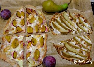 Herbstzauber: fruchtige Flammkuchen-Variationen mit Zwetschgen, Birnen und Ziegenkäse - so schmeckt der Herbst besonders lecker