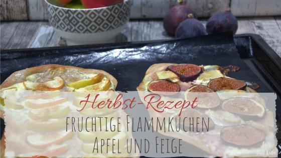Rezept für fruchtige Flammkuchen mit Feige und Apfel