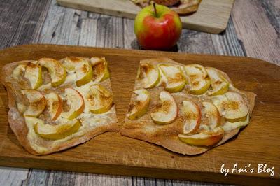 fruchtige süße Flammkuchen Varianten mit Apfel und Zimt