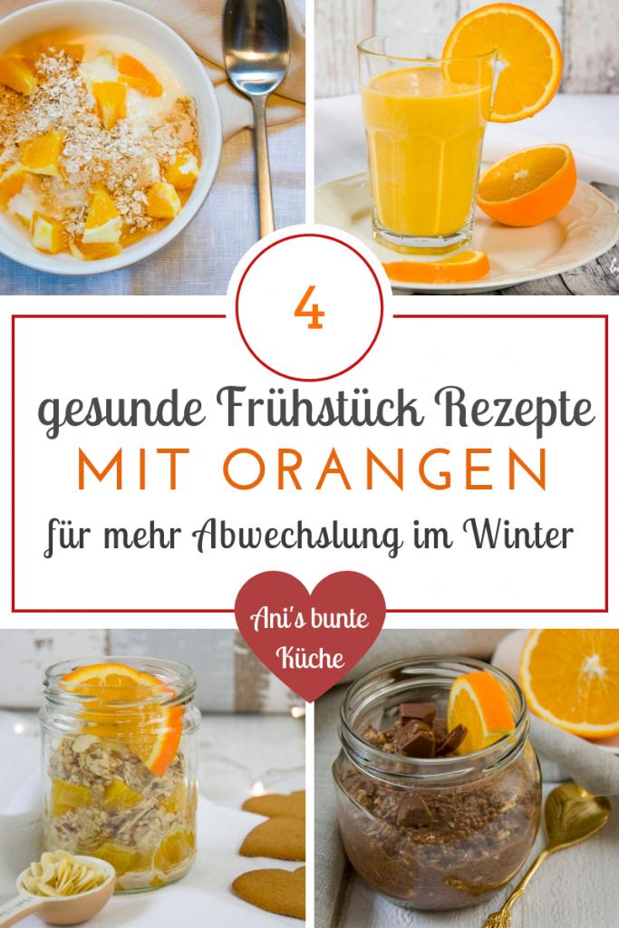 4 gesudne Frühstück Ideen im Winter mit Orange