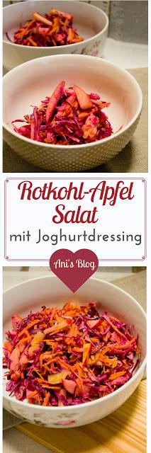 Ein frischer Rotkohlsalat mit Apfel und Möhre und einem Zitronen-Joghurtdressing. Mit nur 5 Zutaten habt ihr einen leckeren Beilagensalat der zu allen Gelegenheiten passt. Zum Mittag, zum Abendessen, für Gäste oder die Grillparty.