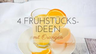 Mit einem gesunden Frühstück startest du viel besser und leichter in den Tag. Heute habe ich 4 Frühstück-Rezepte mit Orangen für euch. Die Orangen liefern euch einen Vitamin Kick am Morgen. Die Rezepte sind schnell in maximal 5 Minuten zubereitet und lassen sich schon am Vorabend vorbereiten. Das spart euch Zeit, wenn ihr morgens schnell sein müsst.