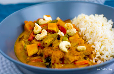 vegetarisches Curry mit Süßkartoffel und Wok-Gemüse by Anis Blog