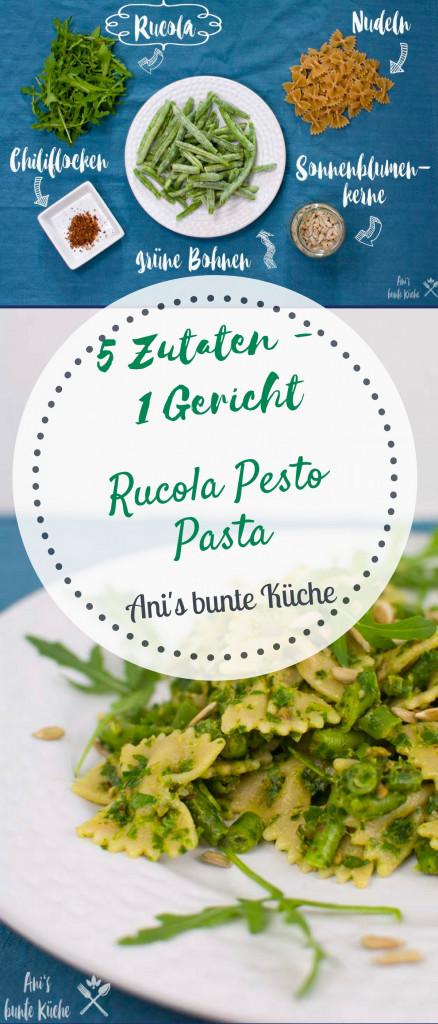 Wenn du dir das Rezept für dein selbstgemachtes Rucola Pesto merken willst, hast du hier einen Pin