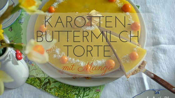Karotten Buttermilch Torte mit Mango Püree