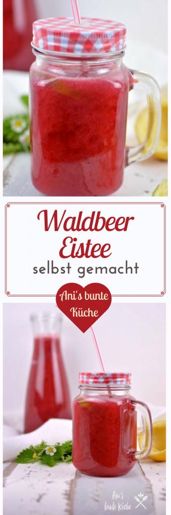 Perfekte Abkühlung mit selbstgemachten Waldbeer Eistee - Ani\'s bunte ...