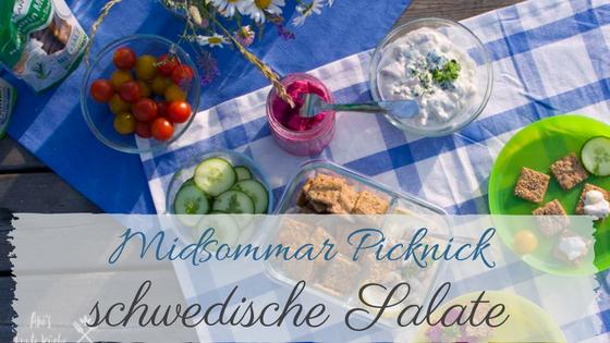 Midsommar Picknick mit schwedischen Salaten und Vollkorn-Snacks von Dr. Karg's