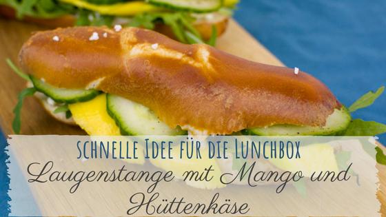 Das Rezept für die Laugenstangen mit Mango und Hüttenkäse für die Lunchbox ist gesund und geht schnell. Gut verpackt kannst du sie gut zur Arbeit, in die Uni, Schule oder ins Büro mitnehmen.