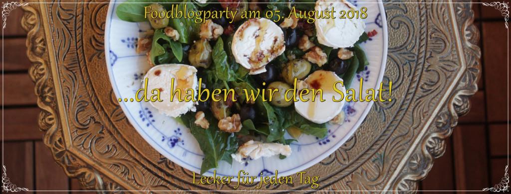 Die Foodblogparty von Lecker für jeden Tag dreht sich diesmal um Salat Rezepte