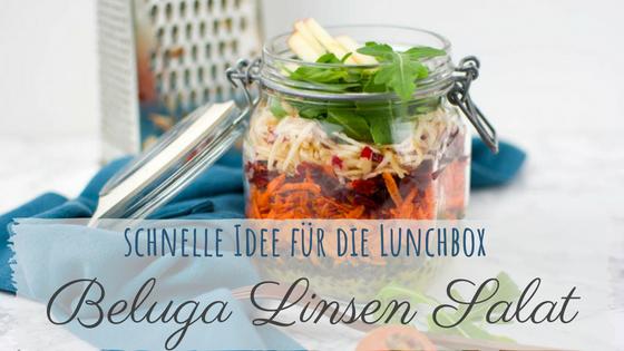 rezept veganer Linsensalat für die Lunchbox