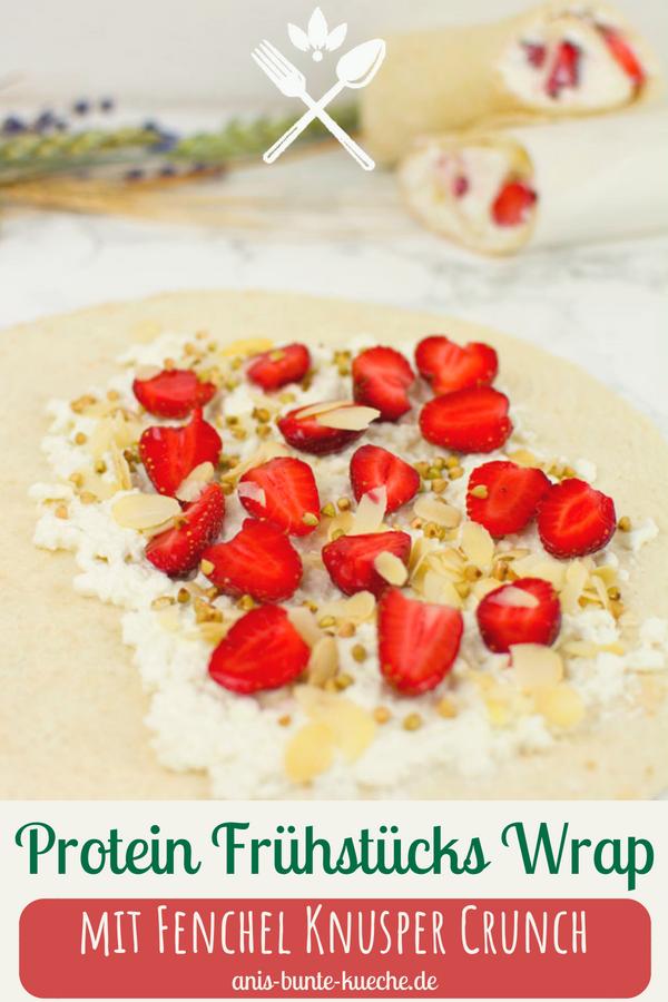 Erdbeer Protein Frühstücks Wrap mit Hüttenkäse