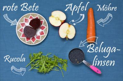 5 Zutaten Rezept - nur 5 Zutaten für den Linsensalat