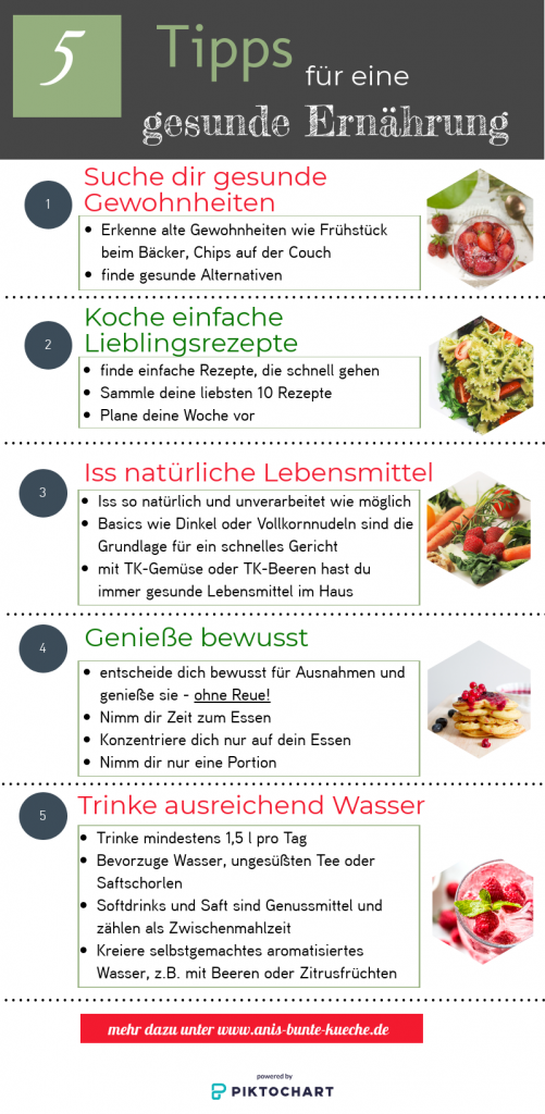 5 Tipps für eine gesunde Ernährung