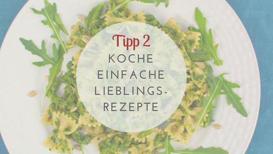 Gesunde Ernährung Tipps: Koche einfache Rezepte