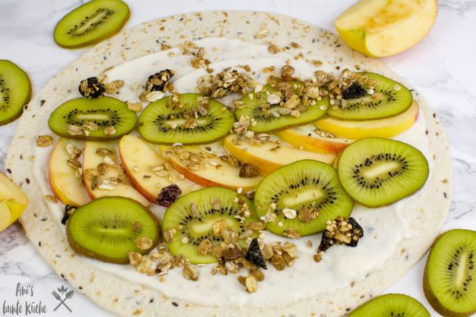gesundes Frühstück leicht vorbereiten - Frühstückswrap