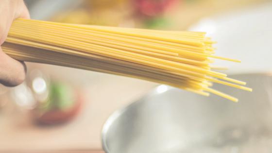 Mit Nudeln kann man schnell ein gesundes Essen kochen