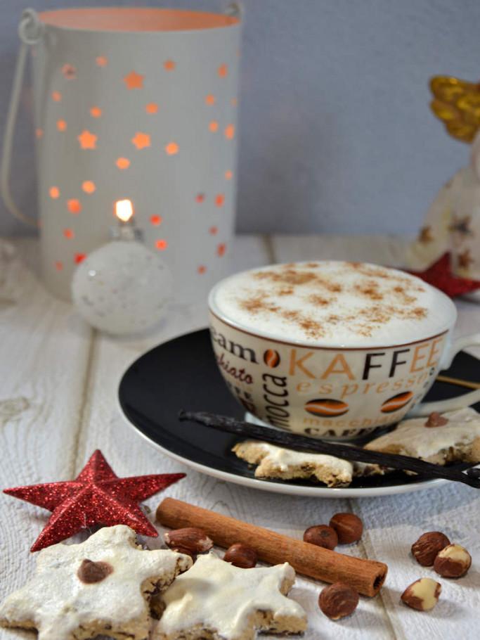 Cappuccino-Sterne - lecker Weihnachtsplätzchen im Advent für Kaffeliebhaber