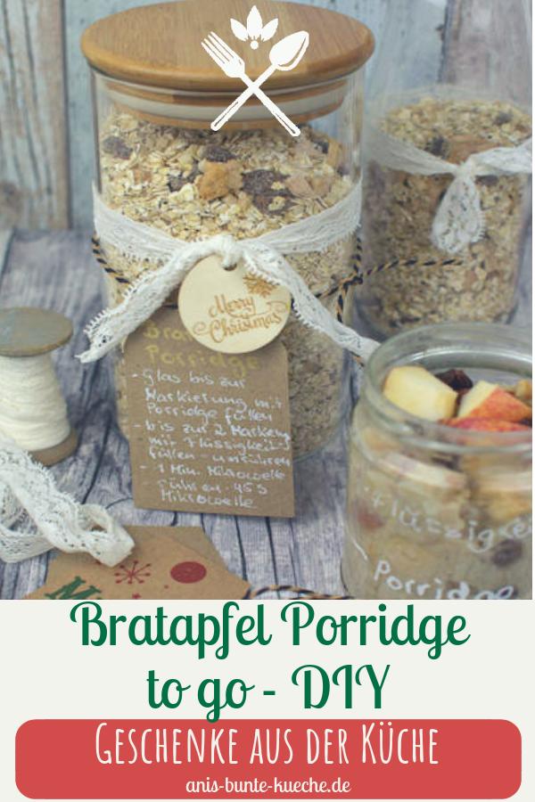 Bratapfel Porridge to go - DIY Geschenk zu Weihnachten
