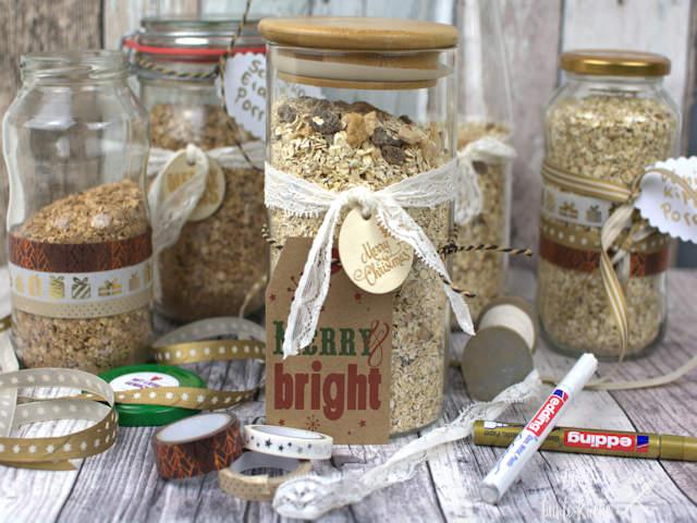 DIY Geschenk aus der Küche - Porridge to go