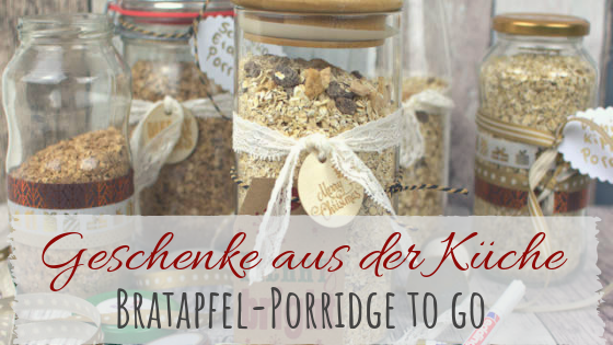 DIY Porridge to go - Bratapfel Porridge