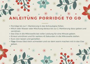 Anleitung DIY Porridge zum kostenlosen ausdrucken