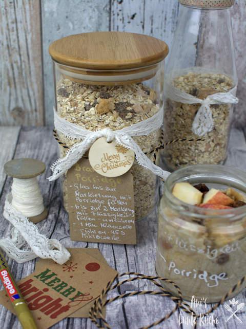 Bratapfel Porridge - ein winterliches Frühstück als Weihnachtsgeschenk