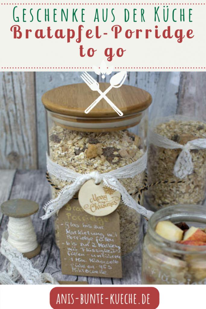 Geschenk aus der Küche als Weihnachtsgeschenk - Bratapfel Porridge to go