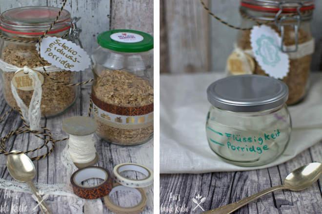 in hübsch verpackten Gläsern ist das DIY Porridge to go ein schönes Weihnachtsgeschenk