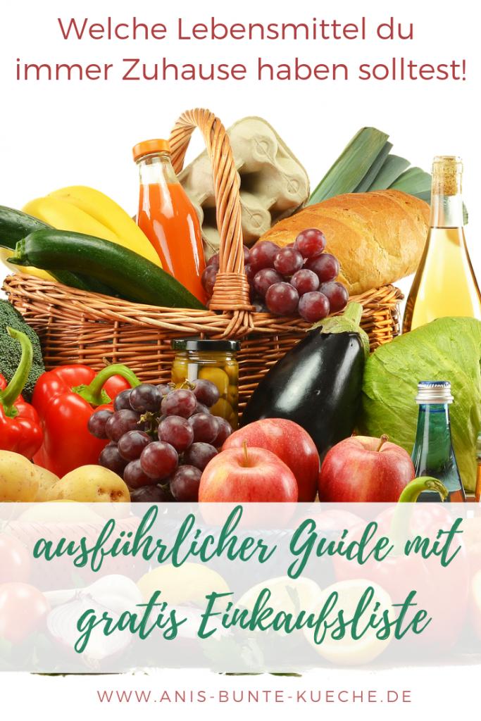 Einkaufsliste mit gesunden Lebensmitteln