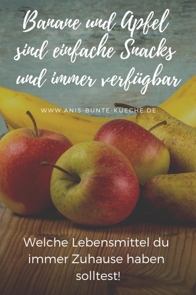 Äpfel, Bananen und Birnen im Obstkorb