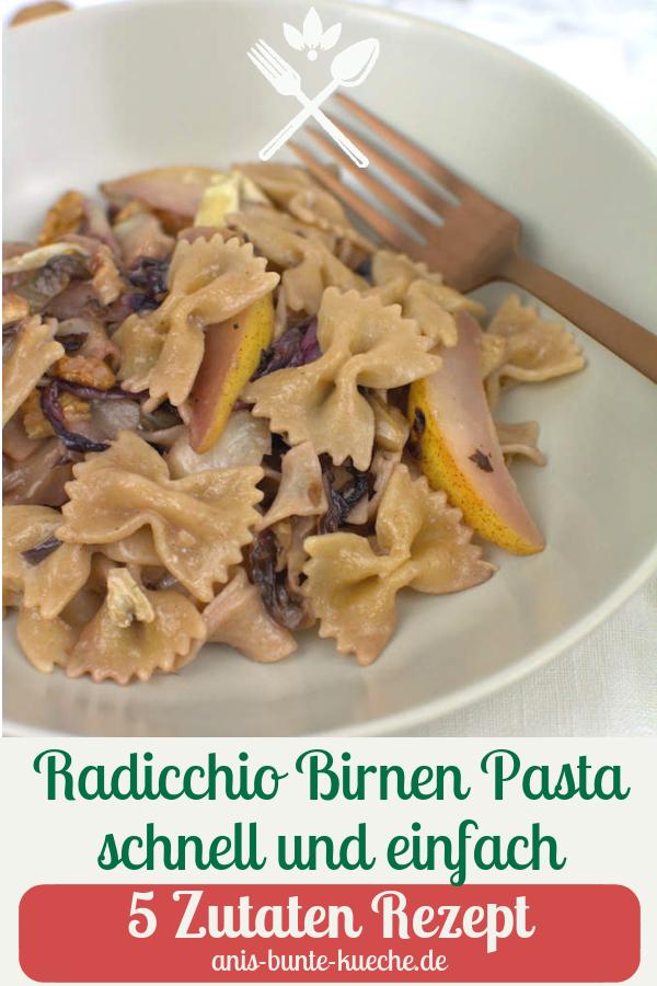 Radicchio Birnen Pasta
