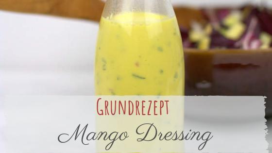 Mango Dressing in der Flasche