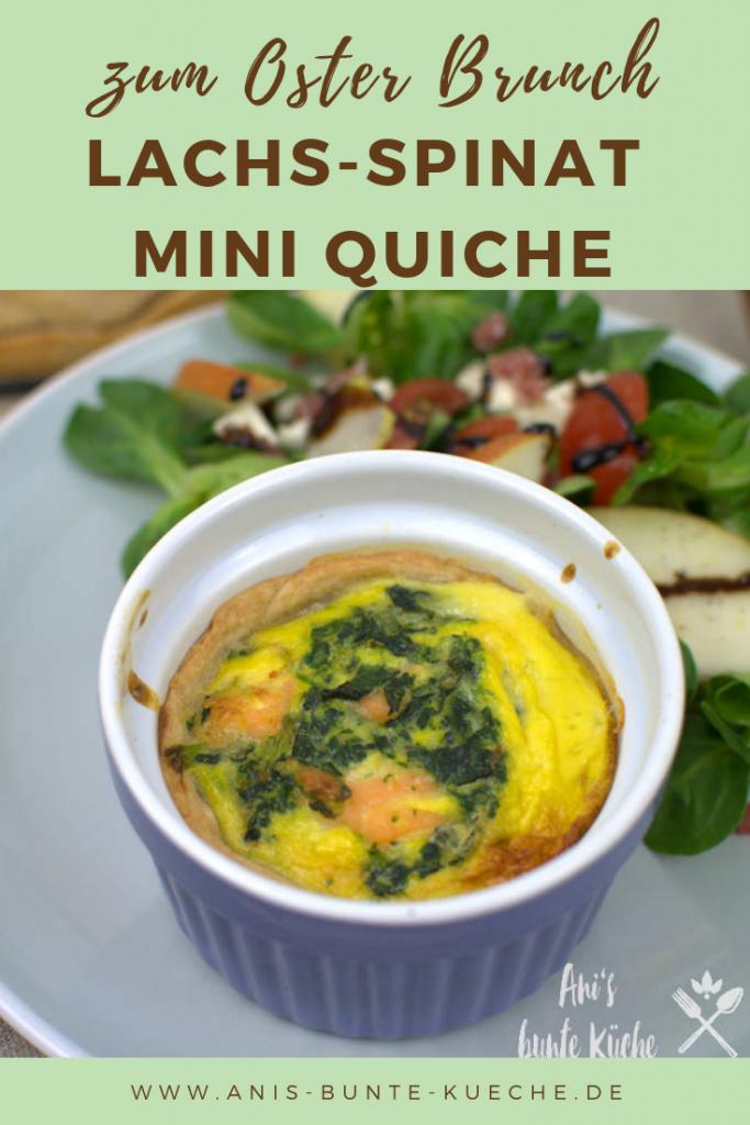 Lachs-Spinat Mini Quiche zum Osterbrunch